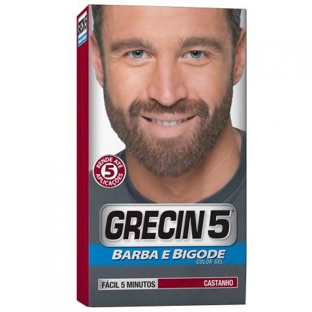 Color Gel Barba e Bigode Grecin 5 Castanho