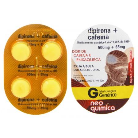 Dipirona Sódica 500mg + Cafeína 65mg