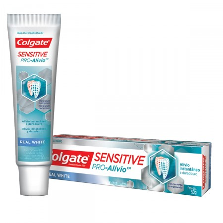 Creme Dental Colgate Sensitive Pró Alívio Real White
