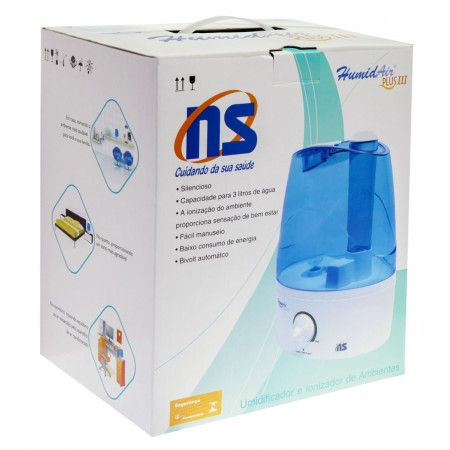 Umidificador e Ionizador NS Humid Air Plus