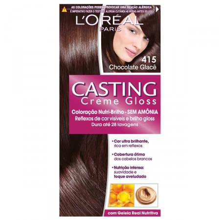 Coloração Permanente Casting Creme Gloss N° 415 Chocolate Glacê