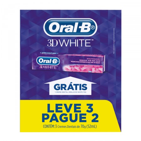 Kit Creme Dental Oral B 3D White