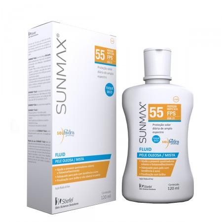 Protetor Solar Sunmax Fluid FPS55 Pele Oleosa/Mista