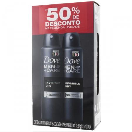Kit Desodorante Aerosol Dove Men Care Invisible Dry