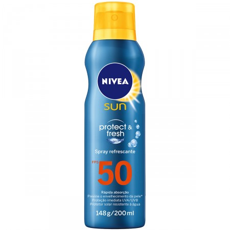 Protetor Solar Spray Nivea Sun Protect & Fresh FPS 50