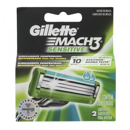 Lâminas para Aparelho de Barbear Gillette Mach3 Sensitive