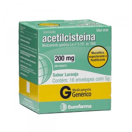 Acetilcisteína 200 mg