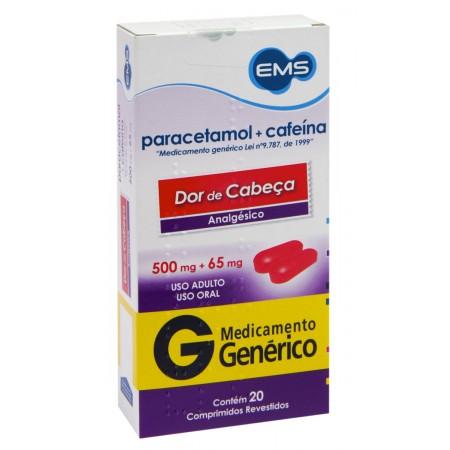 Paracetamol 500mg + Cafeína65mg