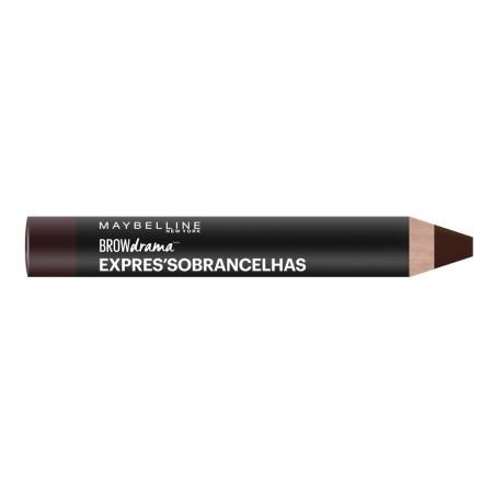 Lápis para Sobrancelha Maybelline Brow Drama Express Castanho Escuro