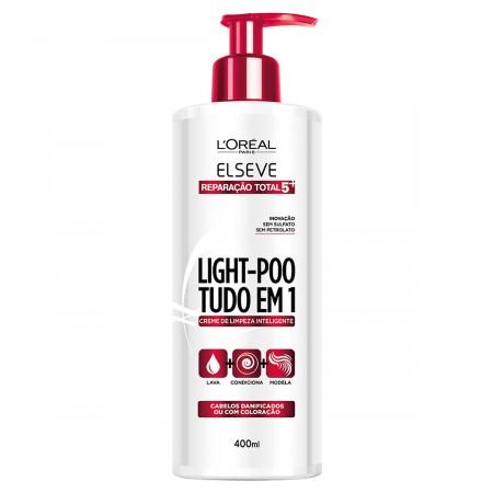 Creme de Limpeza Light-Poo Tudo Em 1 Reparação Total 5