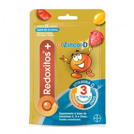 Bayer Vitamina C e D + Zinco 25 Gomas Mix de Frutas