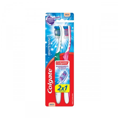 Escova Dental Colgate Whitening Macia