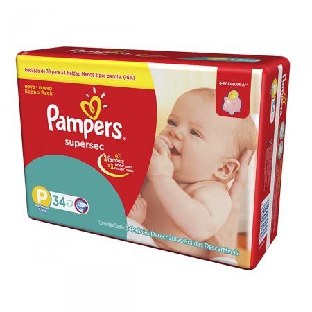 Fralda Pampers Super Sec tamanho P