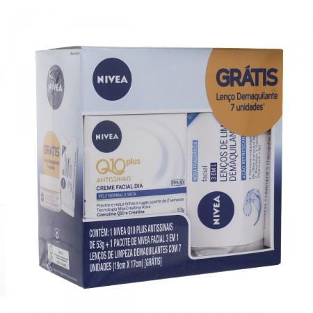 Kit Creme Facial Dia Nivea Q10 Plus Antissinais