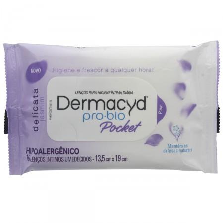 Lenços Umedecidos para Higiene Íntima Dermacyd Pocket