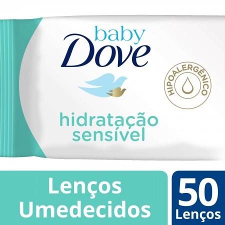 Lenços Umedecidos Baby Dove Hidratação Sensível