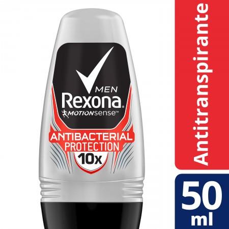Desodorante Roll On Rexona Men Antibacterial Protection