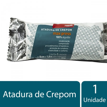 Atadura de Crepom Max Press 8cm x 1,8m