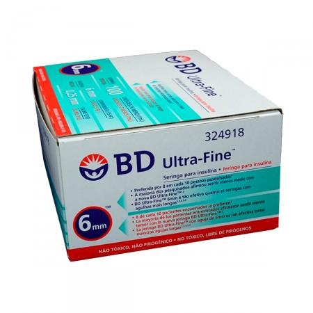 Seringa de Insulina Ultra-Fine 6mm 100UI