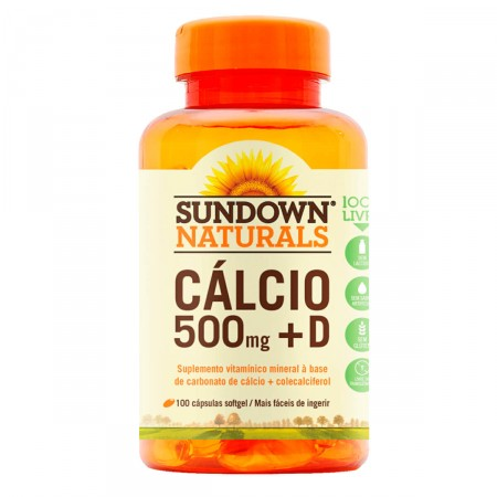 Cálcio Sundown 500mg + D Softgel C/100