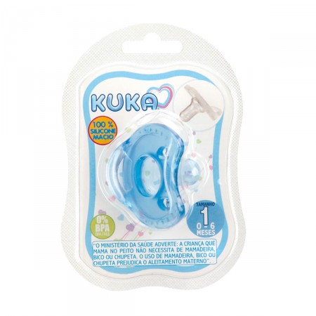 Chupeta Kuka Soft Comfort Azul Fase 1