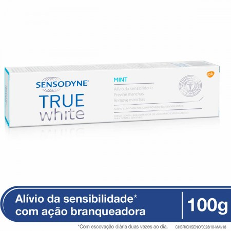 Creme Dental Sensodyne True White Para Dentes Sensíveis