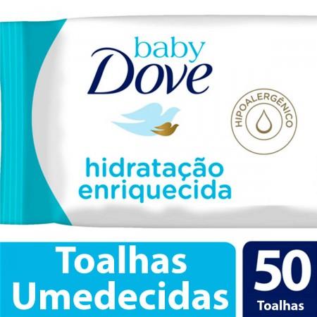 Toalhas Umedecidas Baby Dove Hidratação Enriquecida