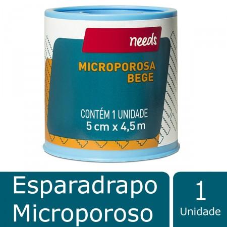 Esparadrapo Microporoso Bege 5cm X 4,5m