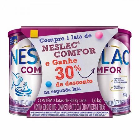 Kit Composto Lácteo Neslac Comfor