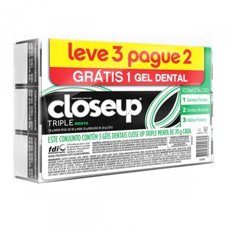 Kit Creme Dental Close Up Triple Menta