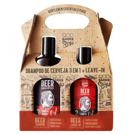 Kit Shampoo QOD Barber Shop 3 em 1 + Leave-In