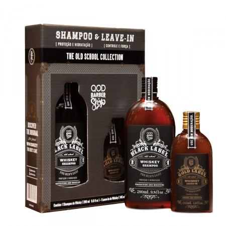 Kit Shampoo QOD School Whiskey  + School Whiskey Leave-in
