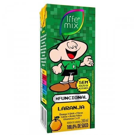 Bebida Funcional Life Mix Kids Sabor Laranja