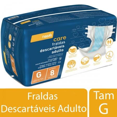 Fralda Descartável Needs Adulto Tamanho Grande
