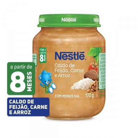 Papinha Nestlé de Caldo de Feijão com Carne e Arroz