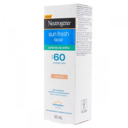 Protetor Solar Neutrogena Sun Fresh Controle de Brilho Com Cor FPS60