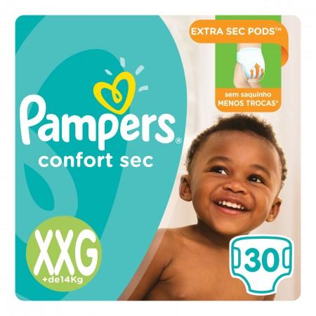Fralda Pampers Confort Sec Tamanho XXG