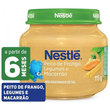 Papinha Nestlé de Peito de Frango, Legumes e Macarrão