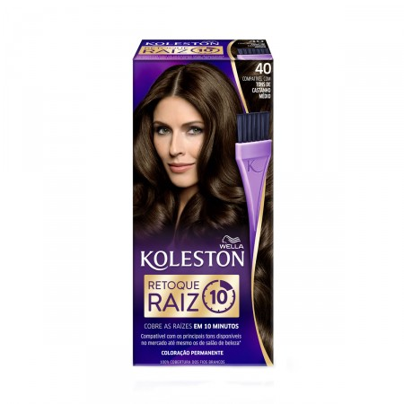 Retoque para Raiz Koleston Castanho Médio Nº40