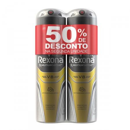 Kit Desodorante Antitranspirante Aerosol Rexona Men V8