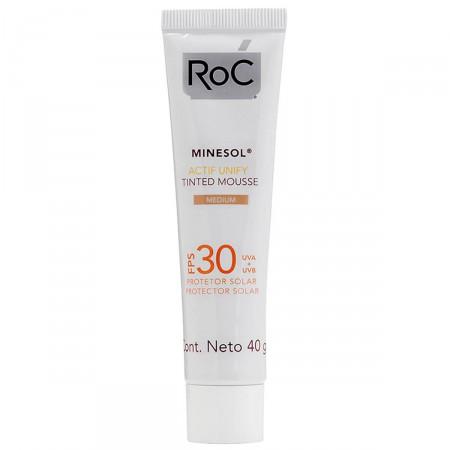 Protetor Solar Roc Minesol Actif Unify Tinted Mousse Medium FPS30