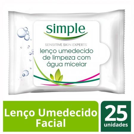 Lenços Umedecidos Facial Simple Micelar