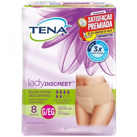 Roupa Íntima Feminina Tena Lady Discreet Tamanho G/XG