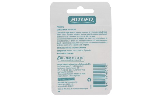 Bitufo Condutor de Fio Dental com 30 unidades | Droga Raia foto 2
