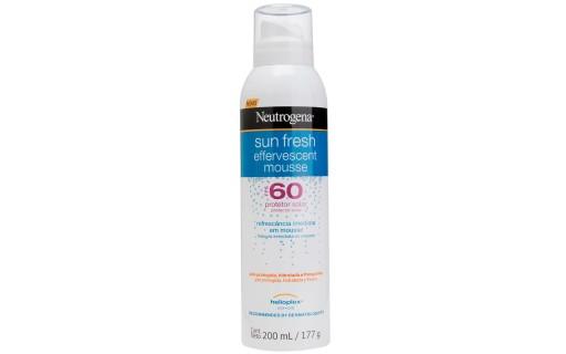 Protetor Solar Neutrogena Sun Fresh Mousse Efervescente FPS60 200 ml   Droga Raia