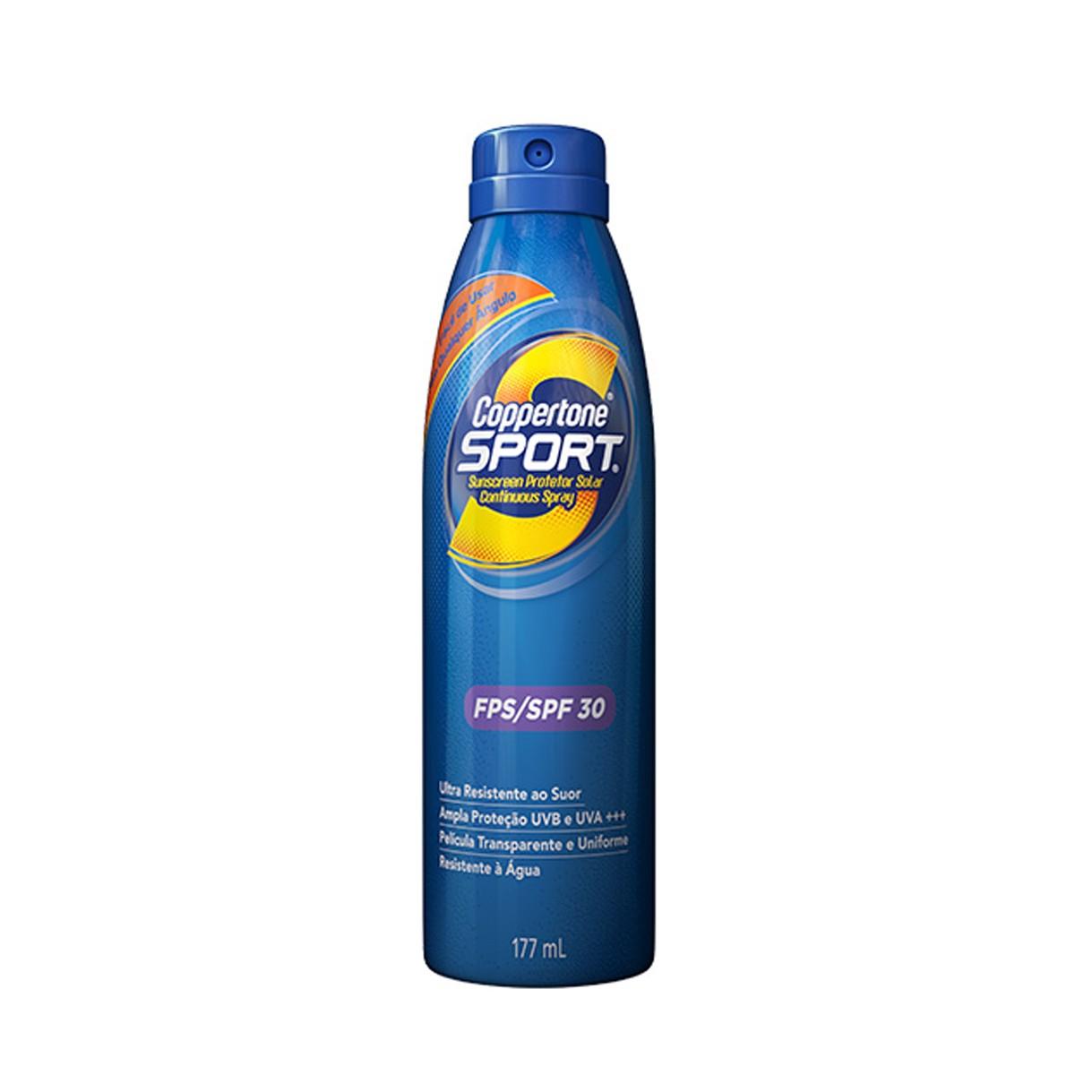 Protetor Solar Spray Sport FPS 30 Coppertone 177 Ml