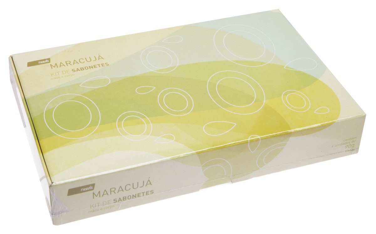 Kit de Sabonetes Maracujá Needs 4 Unidades 90 g cada