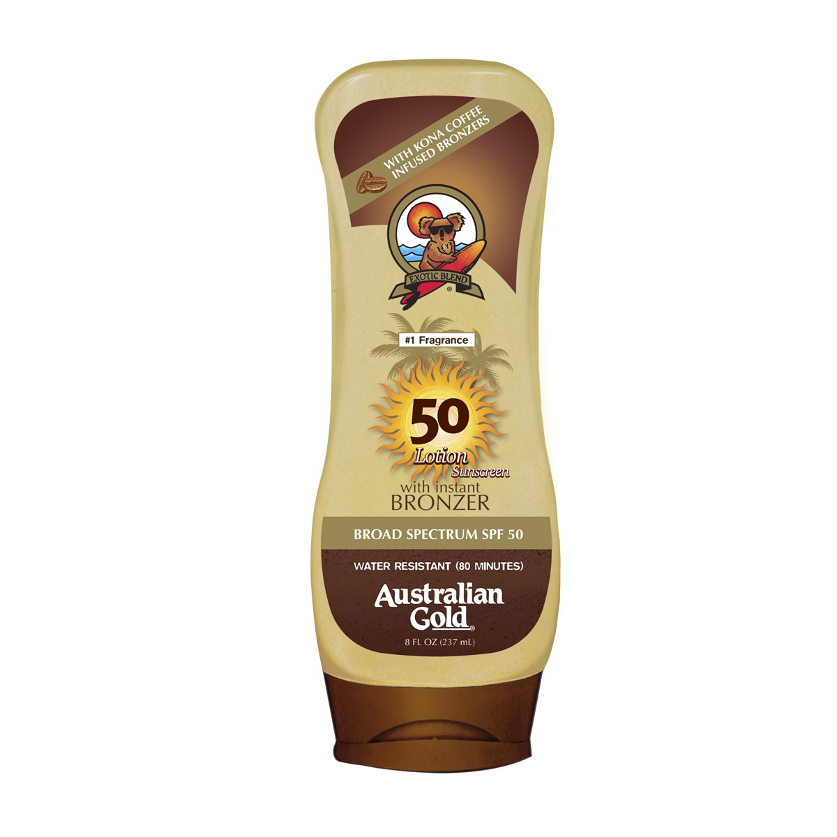Protetor Solar Kona Coffee FPS 50 Australian Gold 237ml