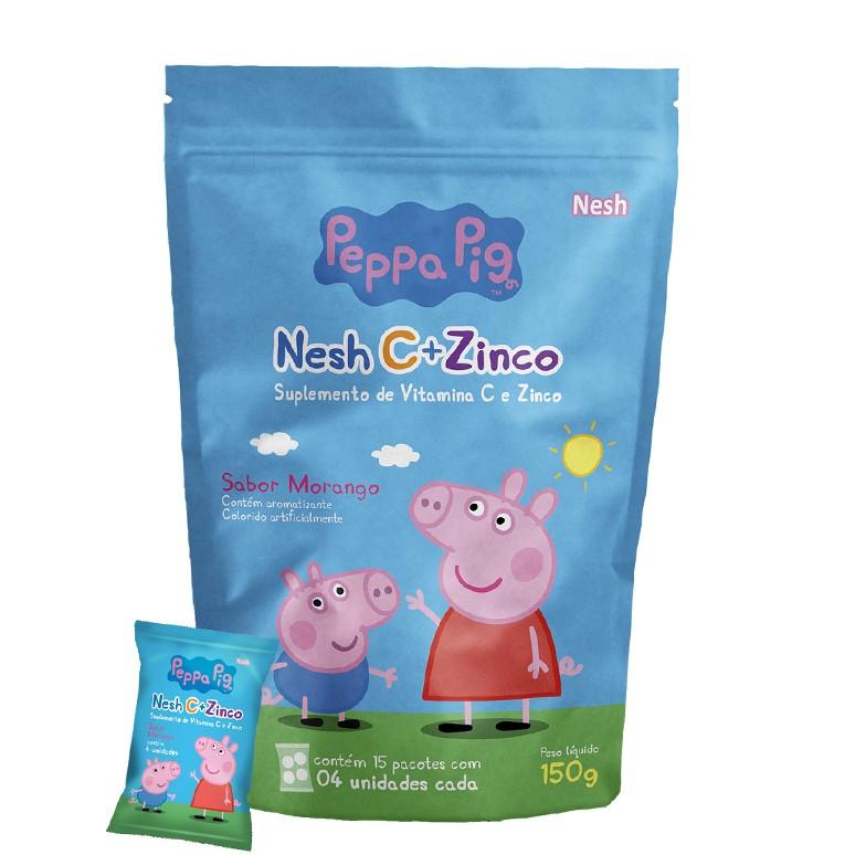 Suplemento de Vitamina C e Zinco Sabor Morango Peppa Pig Nesh 60 Gomas