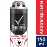 Desodorante Aerosol Rexona Men Antibacterial + Invisible